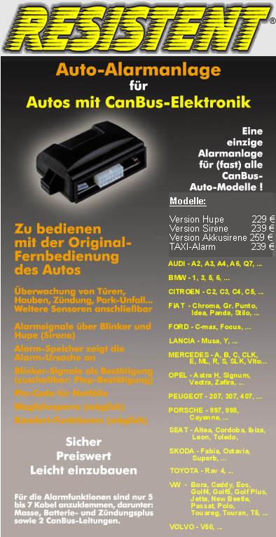 RESISTENT AC CAN BUS  für Fahrzeuge mit Werksfernbedienung